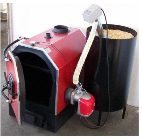 Calor V 55 kW-os vegyestüzelésű kazán pelletégetővel